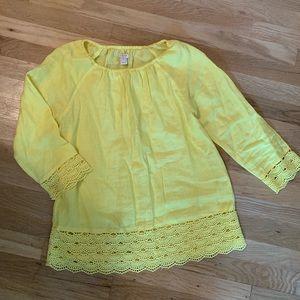 J Crew Factory linen blouse